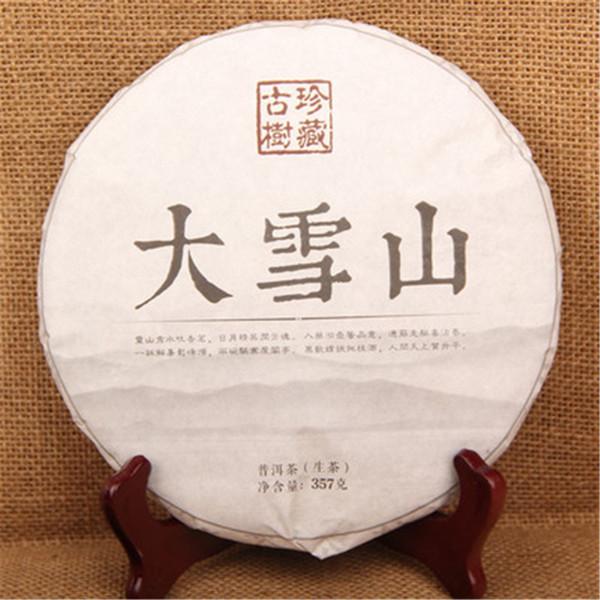 Promoção 357g Raw Pu Er chá Yunnan Big Snowy Mountain Tea Pu'er chá orgânico Natural Pu'er verde verde do bolo alimentar