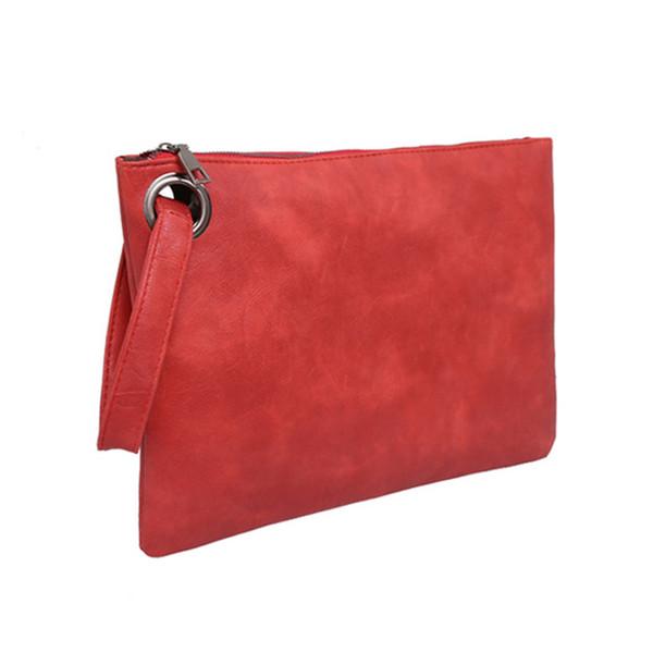 Simple ladies handbag fashion large capacity clutch bag zipper envelope bag Luxury evening female Day Clutches