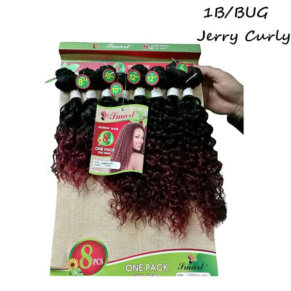 8-14inch jerry curly 1b bug