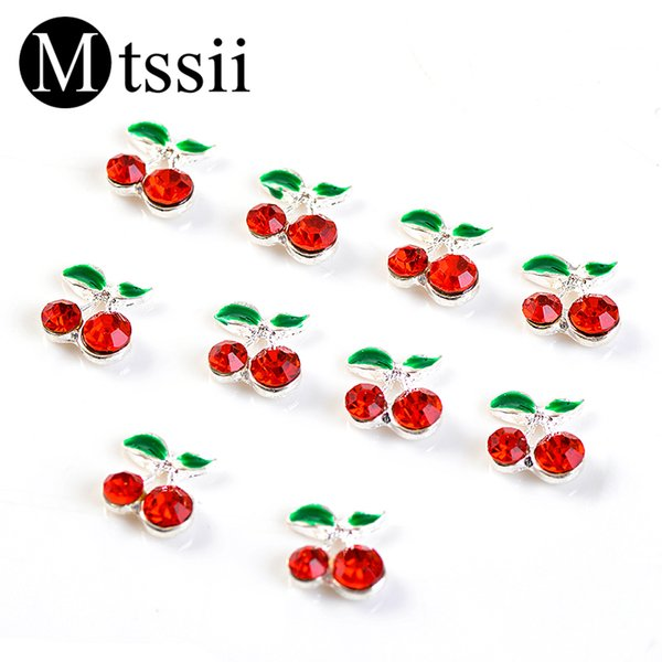 Mtssii 10pcs/set Cherry Design Rhinestones for Nails Creative Nail Design Accessories Lovely Nail Art Decoration For a Manicure