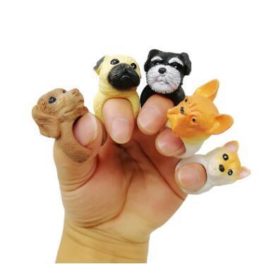 6 Estilos de Anéis de Abertura de Cachorro Vendas Quentes Dos Desenhos Animados Desenhos Animal Bonito Dobrar Anel Personalidade Cão Engraçado 3D Abertura Ajustada Anéis CCA10739 120 pcs