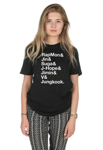 BTS Names T Shirt Top Kpop Fangirl Jungkook RapMon Jin Suga J Hope Funny  Unisex Casual Tee Gift Coolest Tee Shirts Cool T Shirts Design From  Fat_dad,