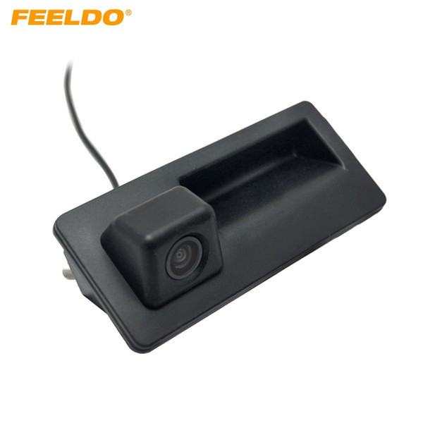 FEELDO Car Trunk Handle Reverse Camera Night Vision Rearview Camera for Audi VW Passat Tiguan Golf Passat Touran Jetta Sharan Touareg #2068