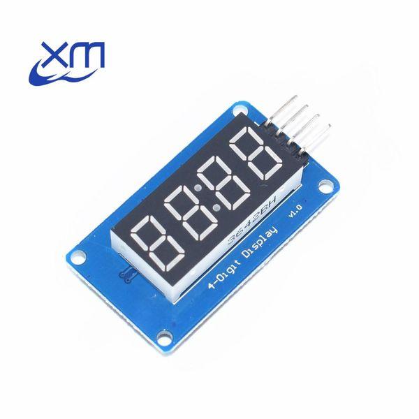 1 pcs 4 Bits TM1637 Tubo Digital Vermelho LED Display Module Relógio B51