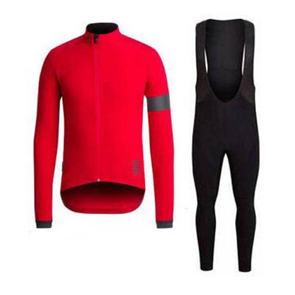 RAPHA Breathable Cycling Jersey Suit Men MTB Bike shirt bib pants set Racing bicycle long sleeve Tour de France Cycling Clothing 100506Y