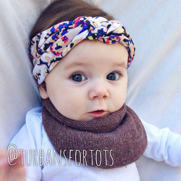 Headbands Bow hairs Vintge Hair Head Band Baby girl sweet Elastic knit cotton baby hair accessories Wholesale price