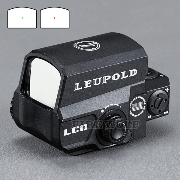 LEUPOLD LCO Upgraded Red Dot Sight Hunting Scopes holographic Tactical Riflescope Fits Any 20mm Rail Mount Airsoft Gun