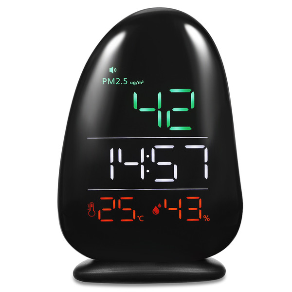 A8 LED Digital Table Clock Indoor Air Quality Detector Accurately Testing Monitor with PM2.5 Temperature Humidity Display