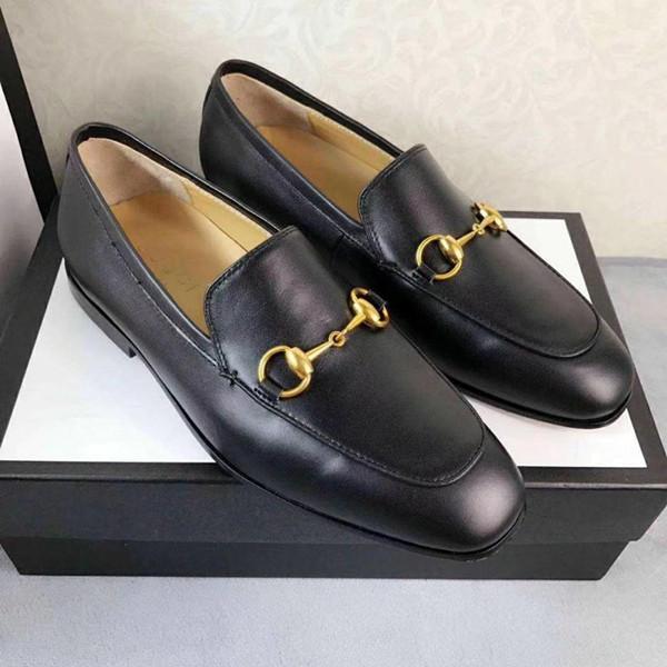 Marke Jordaan schwarz Leder Loafer neue Horsebit Loafers Luxus klassische Männer Mokassins Freizeitschuhe Größe 38-44