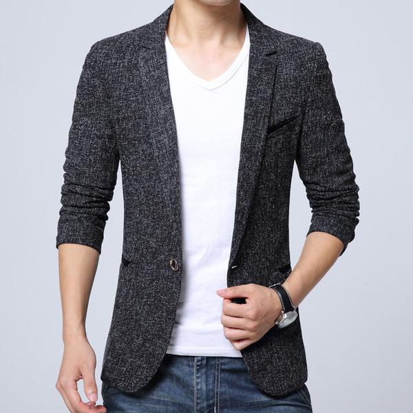 2018 Nouvelle Arrivée Haute qualité Hommes Blazer Slim Fit Business Casual Blazers Outwear Hommes Blazer Veste Costume Blazers 4XL 5XL