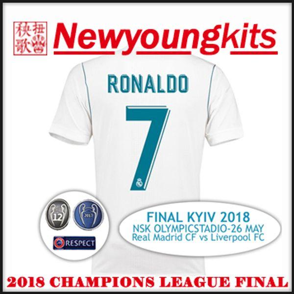 17c471d0f 2018 Champions league final Real Madrid home Jersey May 26 Dynamo Kyiv  Football shirts RONALDO MODRIC BENZEMA BALE MARCELO soccer shirt