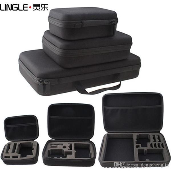 Sportkamera tragbarer stoßfester Koffer kleines mittelgroßes großes Zubehör Aufbewahrungspaket für die verschiedenen Modelle von Sportkameras