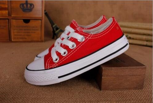 best selling Hot Sale 2018 New kids canvas shoes fashion shoes boys and girls sports canvas children shoes size EUR 23-34