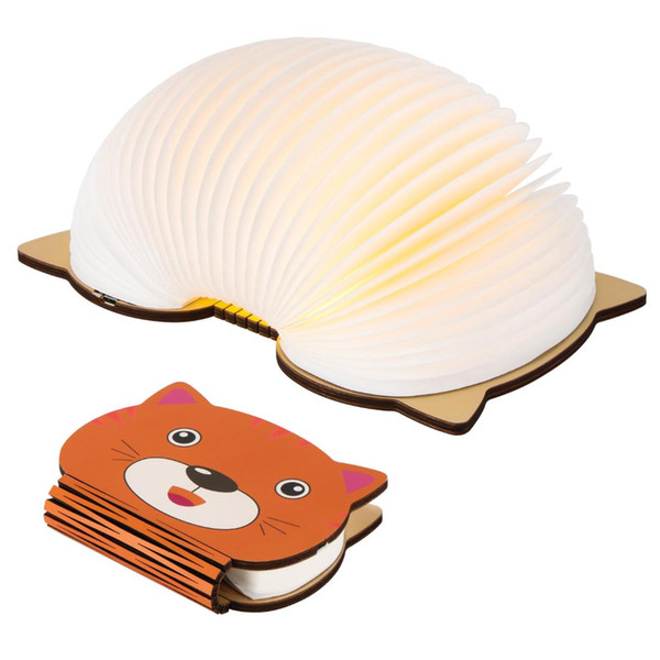 Foldable Pages Led Book Shape Night Light Portable Book Light USB Rechargeable Table Desk Bedside Children LED Night Lamp