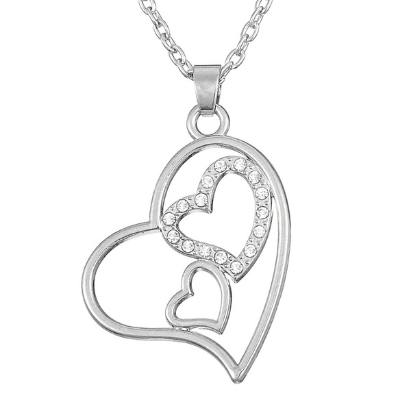 Myshape Wholesale,Retail,Fashion,New Design,Valentine's Day Gift Custom Jewelry Accessories Heart-Shaped Necklaces Couples For Women