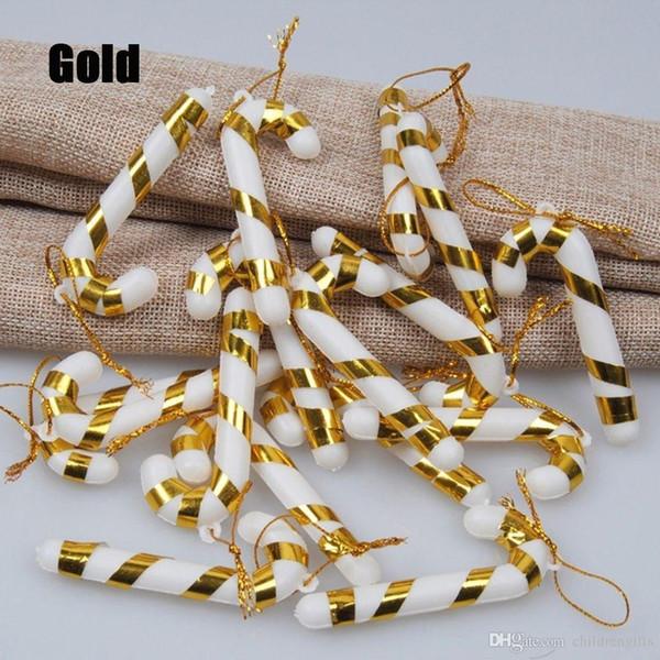 12Pcs Hot DIY Craft Charming Festival Decoration Christmas Candy Cane Hanging Ornaments Xmas Tree Decor #257