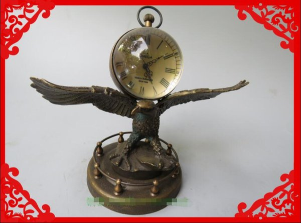 Nouvelle horloge, salon, machines à la main en cristal en forme d'aigle, horloge numérique, horloge.