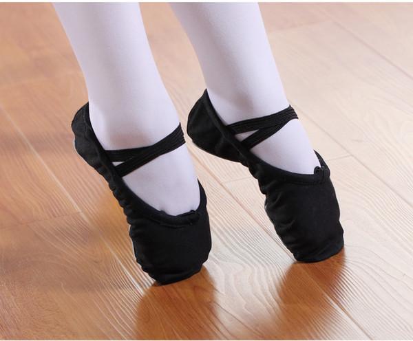 Zapatos de baile latino Zapatillas Zapato de mujer Suave para niños Niño Lona para adultos Zapatos de baile para ballet Gimnasia de baile en punta