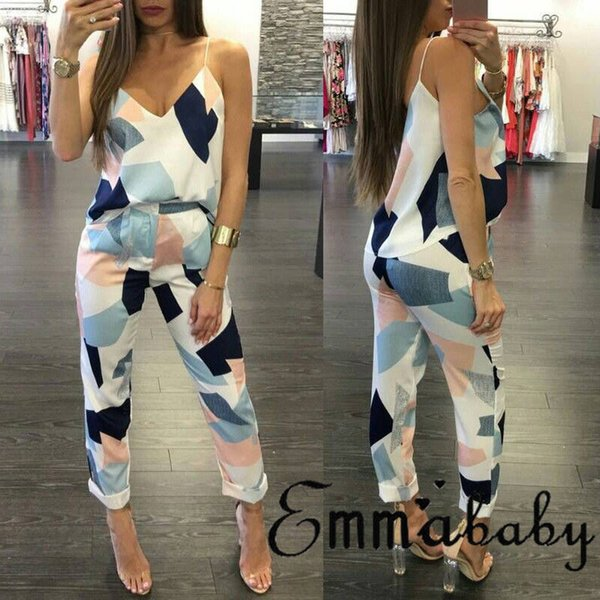 Fashion Casual Women Ladies Jumpsuit Holiday Straps Romper Playsuit Beach Backless Sleeveless Long Jumpsuit