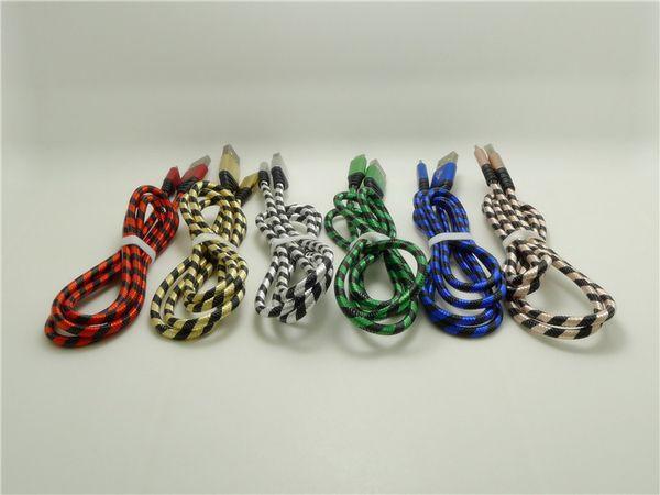 I8 XR MAX Zebra örgü veri hattı için 1 M 2 M 3 M nervürlü örgü hattı 8pin örgü USB kablosu