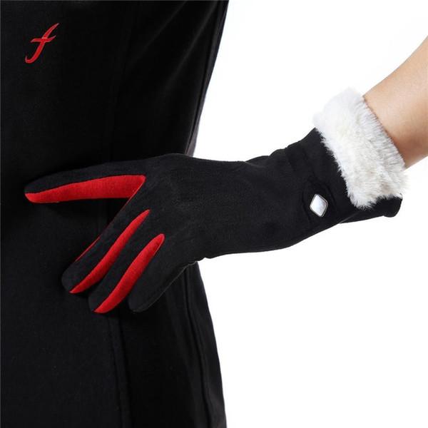 Mädchen Sport Hänge Handgelenk Feitong Verdicken Hals Frauen Handschuhe Neu Keep Damen Handschuhe Fäustlinge Hand Leder Warme Warme Marke Winter