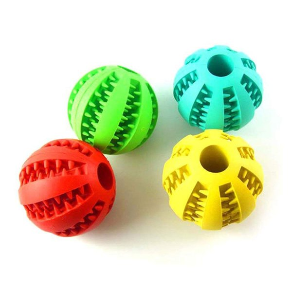 Dog Ball Toys Pet Tooth Cleaning/Chewing/Playing Soft Rubber Bouncy Ball Dog Food Treat Feeder Pet Exercise Game Ball Pack of 8