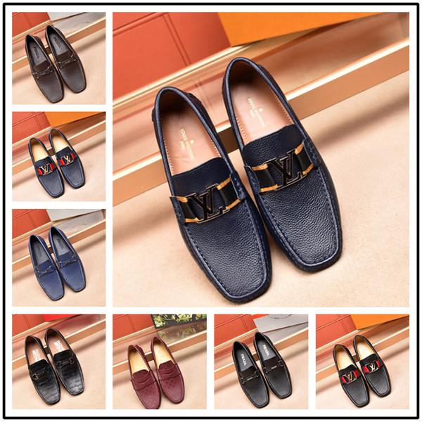 2018 Designer Herren Luxus Kleid Schuhe Italienische HerrenWedding Schwarz Lace Up OxfordLeder Schuhe Große Größe Formelle Schuhe