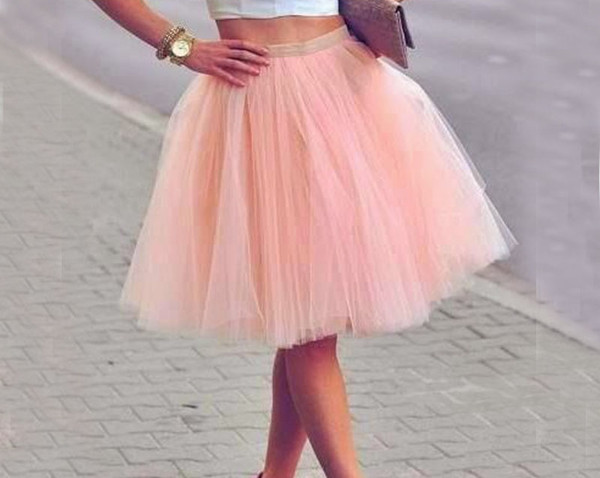 Real Picture Knee Length White Tulle Tutu Skirts For Adults Custom Made A-Line Cheap Party Prom Dresses Women Under Clothing Tulle Skirts