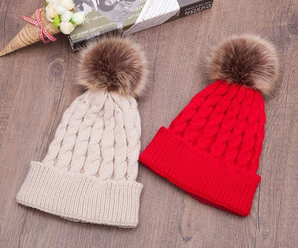 New winter sweater hat, twist hair ball, single color, men's knitted hat, fashion outdoor hat, L828