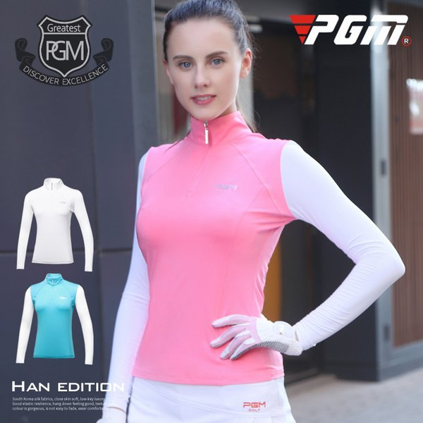 2018 New PGM Women's Golf T-shirt Golf Apparel Ladies Long Sleeve Tops Summer T Shirt Breathable Comfort Polo Shirt size S-XL