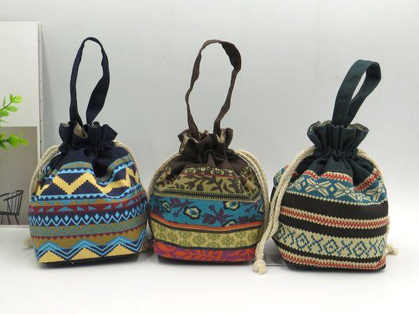 A bolsa de arte de pano de senhora zero carrega o saco cosmético pequeno saco de lona portátil.