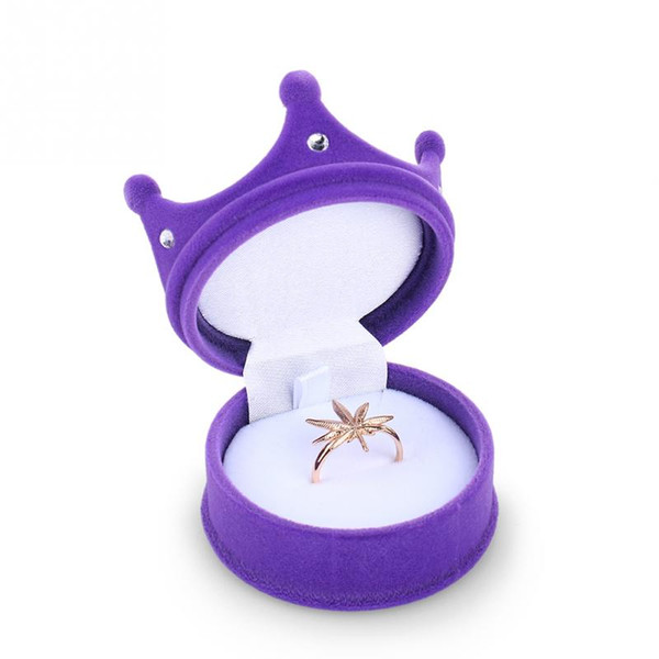 New Crown Velvet Ring Display Box Ear Stud Necklace Jewelry Case Container Wedding Ring Gift Case Earrings Storage