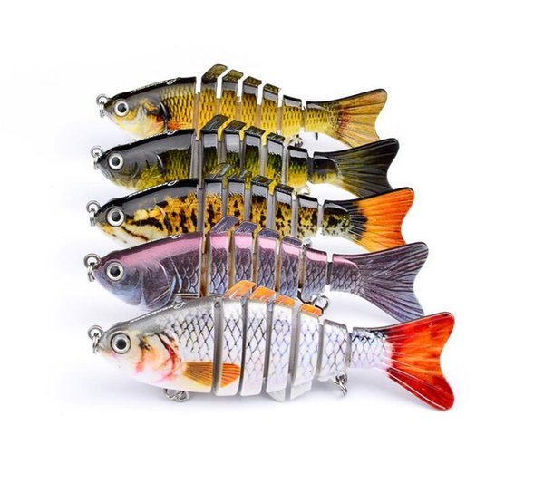 12cm 15g Wobbler Fishing Lure Sea Pike Fish Lure Swimbait Crankbait Isca Artificial Bait With Hook Fishing Tackle Pesca Hard Bait 7 Segments