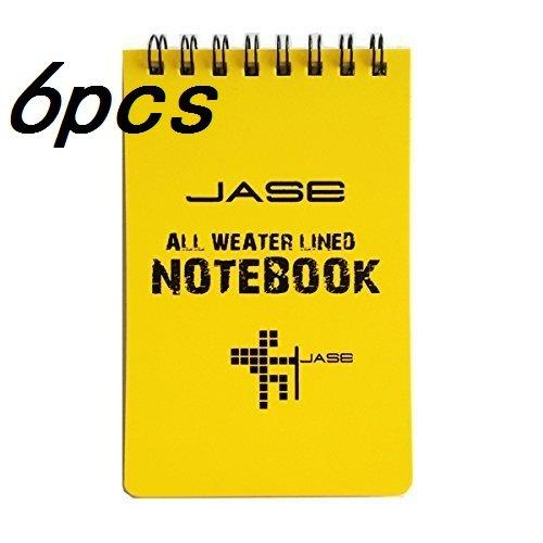Set of 6 Yellow Waterproof/All Weather/Shower/Aqua Notes/Notepad/Notebook