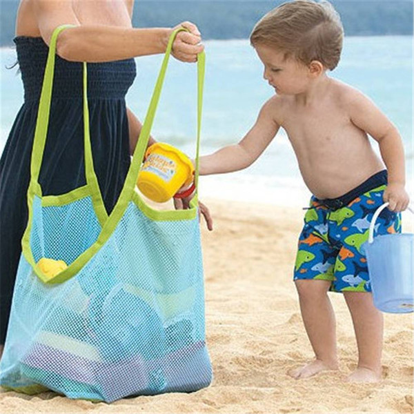 Toys Mesh Storage Bag Portable Baby Kids Sand Collect Tote Beach Swimming Sports Shopping Pouch Reusable pouch bag