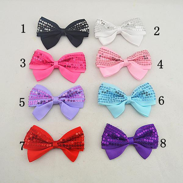 16pcs Children bands of hair flowers, mini satin ribbon Clip bow newborn headband hair accessories headwrap hairband Tiara FJ035
