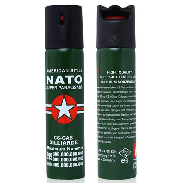110ml Nato Self-Defense Pepper Spray Oc Spray Tear Gas Outdoor Camping Defense Survival Gear Lady EDC Tools