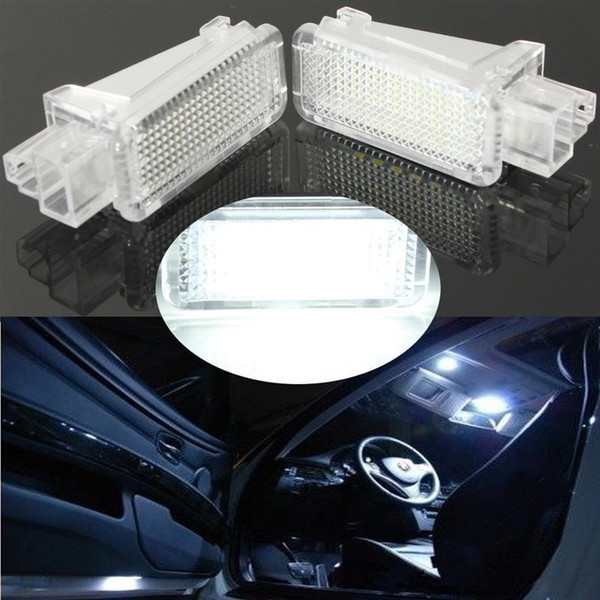 2x Plug and Play Easy Install Car LED License Car Door Courtesy Laser Logo Projector Light 18SMD Luggage Lamp For AUDI/VW/SKODA Lambo