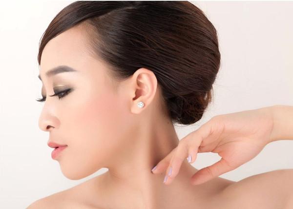 Hot style jewelry zircon south Korean version of earrings crown jewel female crown earrings colorful jewelry fashion zircon earring