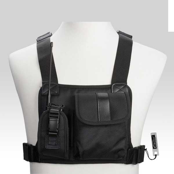 Per Baofeng Radio Chest Harness Chest Front Pack Pouch Holster Vest Rig Carry Cade per Baofeng TYT Wouxun Motorola Walkie Talkie