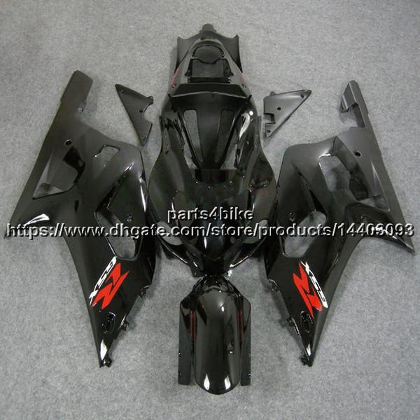 5Gifts + Custom Carena in ABS nero per Suzuki GSX-R600750 2001 2002 2003 Kit per moto in plastica GSXR 600 R750 K1