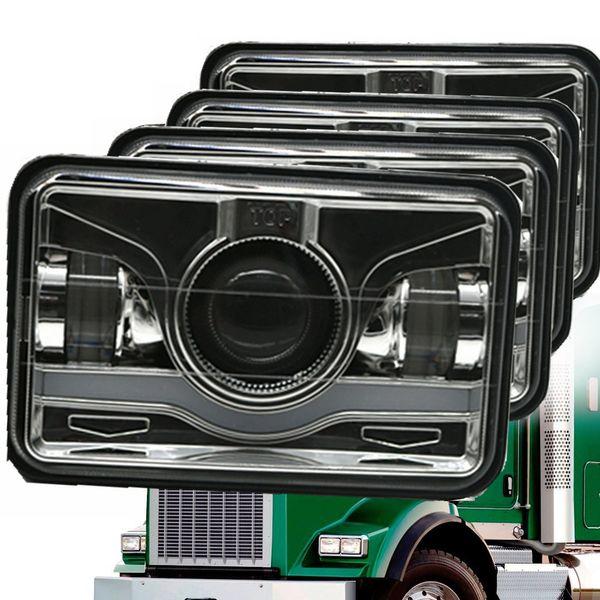 2019 4x6 Inch Square LED Headlights Sealed Beam H4651 H4652 H4656 H4666 H Headlight Wiring Diagram on