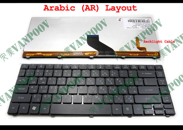New AR Notebook Laptop keyboard FOR Acer Aspire 4739 4739Z 4740 4740G 4741 4741G 4741Z 4741ZG 4743 4743G 3810T 4810T Black Backlit Arabic
