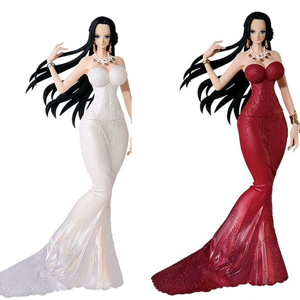 No Box Anime One Piece Glitter & Glamours Boa Hancock Crash Style Fishtail Suit Action Figure Toy Brinquedos Figurals POP Model Gift
