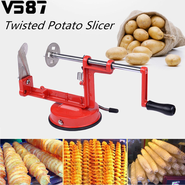 Aluminum Alloy Manual Spiral Twisted Chips Slicer Potato Vegetable Fruit Cutter Peeler Home Kitchen Cooking Tools Kitchenware
