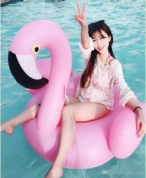 Inflatable Flamingo Float 150CM ECO-Friendly PVC Summer Outdoor Ride-On Pool Toys Swimming Water Raft Fun Adult Kid Swim Party Toys