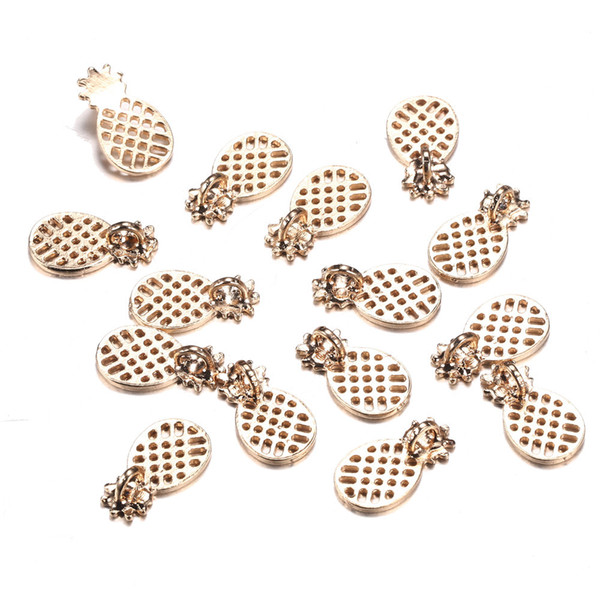 100pcs/lot 11*20mm Fruit pineapple charms for Jewelry ananas floating necklace pendant diy jewelry Accessories wholesale