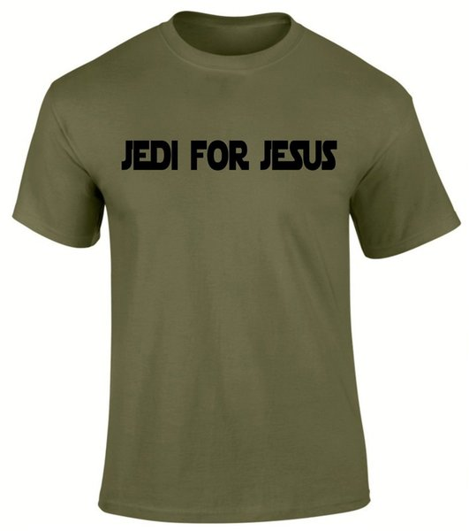 Jedi für Jesus Christian Gospel Kirche Schriften Herren T-Shirt