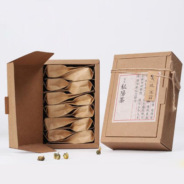 Kraft paper gift paper box mooncake candy retail packaging craft paper box tea box 16*10*5.2cm QW8245