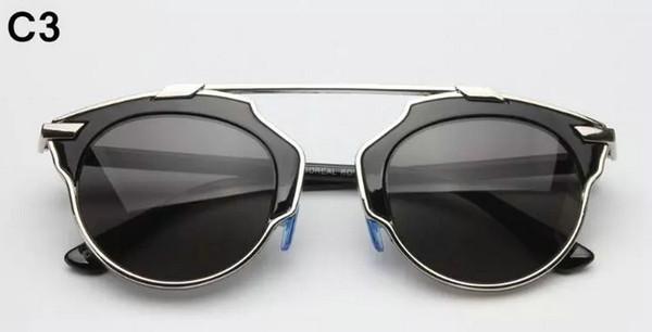 4b95d4333e042 NOVA Moda Das Mulheres Dos Homens De Metal Redonda Moldura Óculos Espelho lente  óculos de Sol